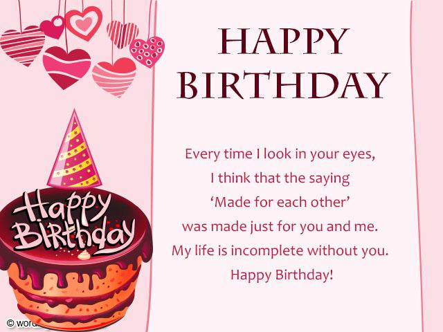 Birthday Wishes for Boyfriend Romantic Birthday Wishes for Him