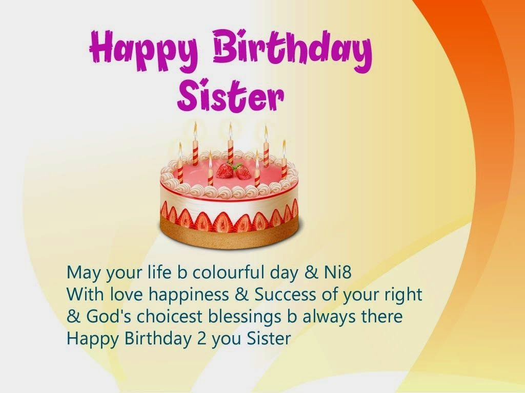 birthday wishes images for sister