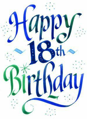 happy 18 birthday